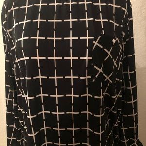 Tops - Xl black and white dressy top